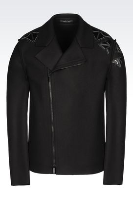 Armani Blouson jacket Men runway blouson in broadcloth