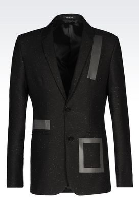 Armani Two button jackets Men runway jacket in wool blend