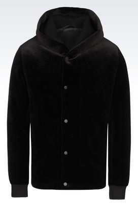 Armani Blouson jacket Uomo blouson di sfilata in velluto