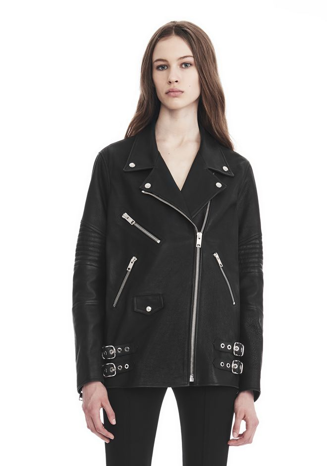 ALEXANDER WANG Short-length jackets Women BOYFRIEND MOTO JACKET