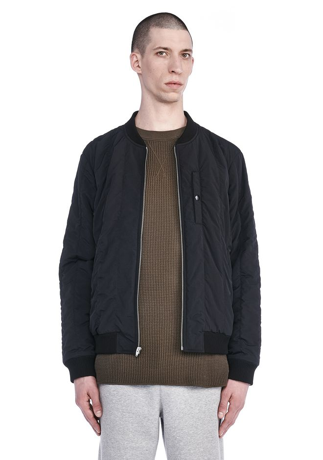 T by ALEXANDER WANG BOMBERS Men NYLON QUILTED BOMBER