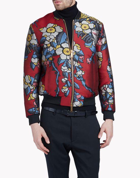 cherry blossom bomber coats & jackets Man Dsquared2