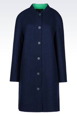 Armani Coats Women coat in wool blend