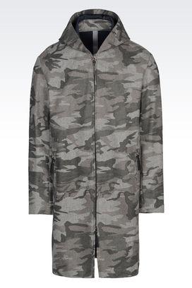 Armani Coats Men coat in camouflage fabric