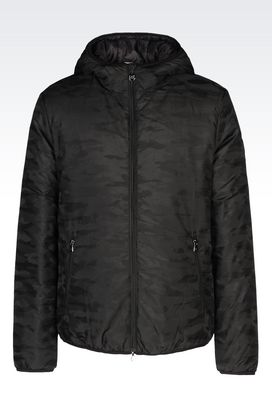 Armani Outerwear Men full zip hooded jacket