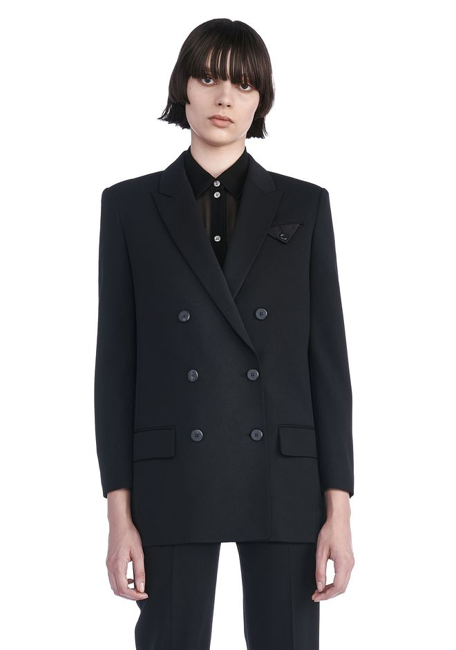ALEXANDER WANG JACKETS AND OUTERWEAR  Women DOUBLE BREASTED BLAZER WITH CROPPED SLEEVES