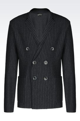 Armani Jackets Men knit jacket
