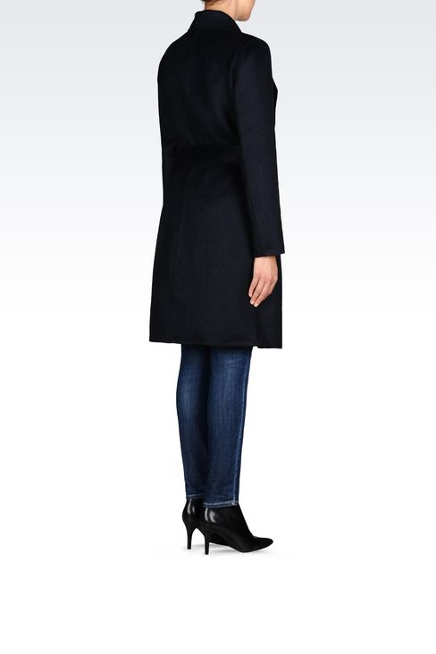 COAT IN WOOL BLEND: Single-breasted coats Women by Armani - 4