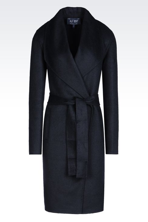 COAT IN WOOL BLEND: Single-breasted coats Women by Armani - 1
