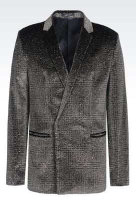 Armani Jackets Men jacket in glitter print velvet