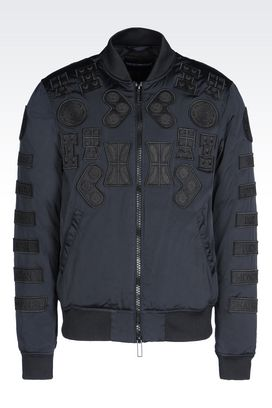 Armani Blouson jacket Men runway bomber in technical fabric