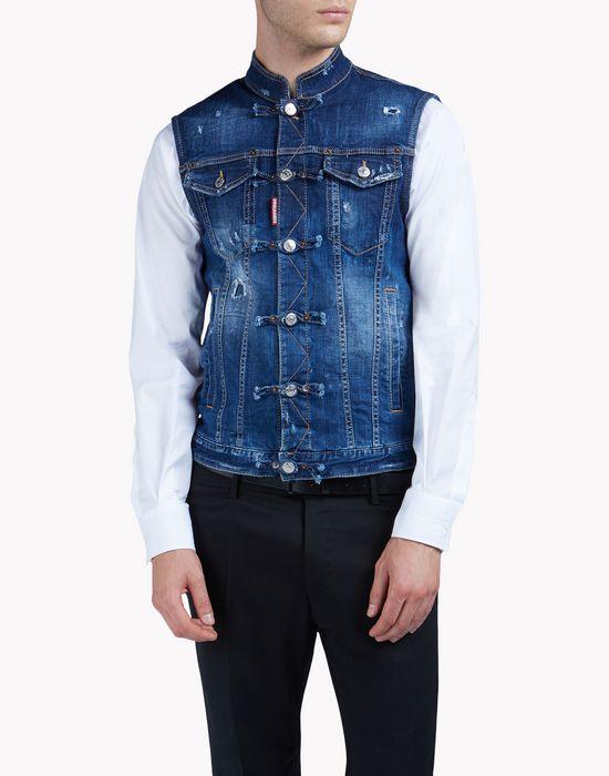 denim vest coats & jackets Man Dsquared2
