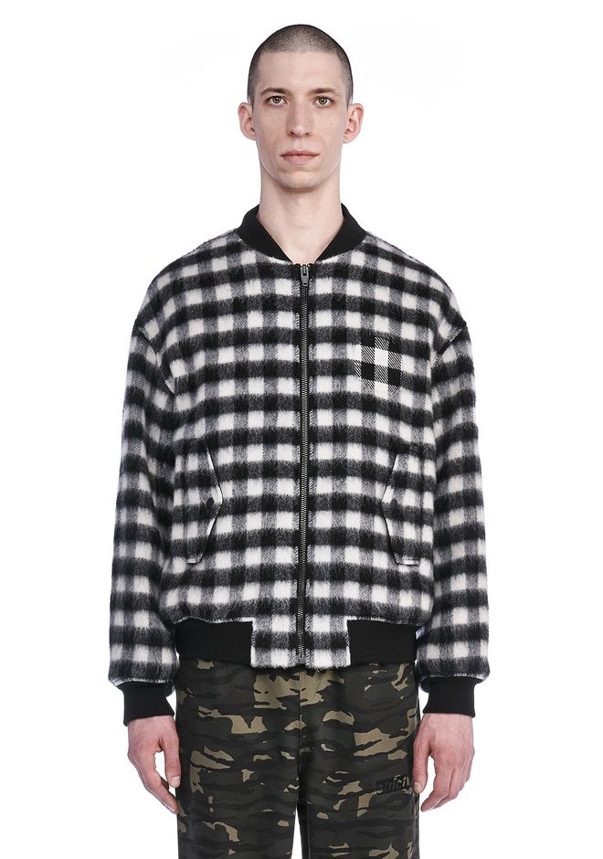 ALEXANDER WANG JACKETS AND OUTERWEAR  Men PLAID WOOL BOMBER