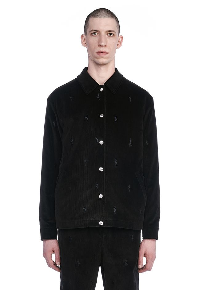 ALEXANDER WANG JACKETS AND OUTERWEAR  Men RUNWAY CORDUROY COACH'S JACKET WITH EMBROIDERED DANCERS
