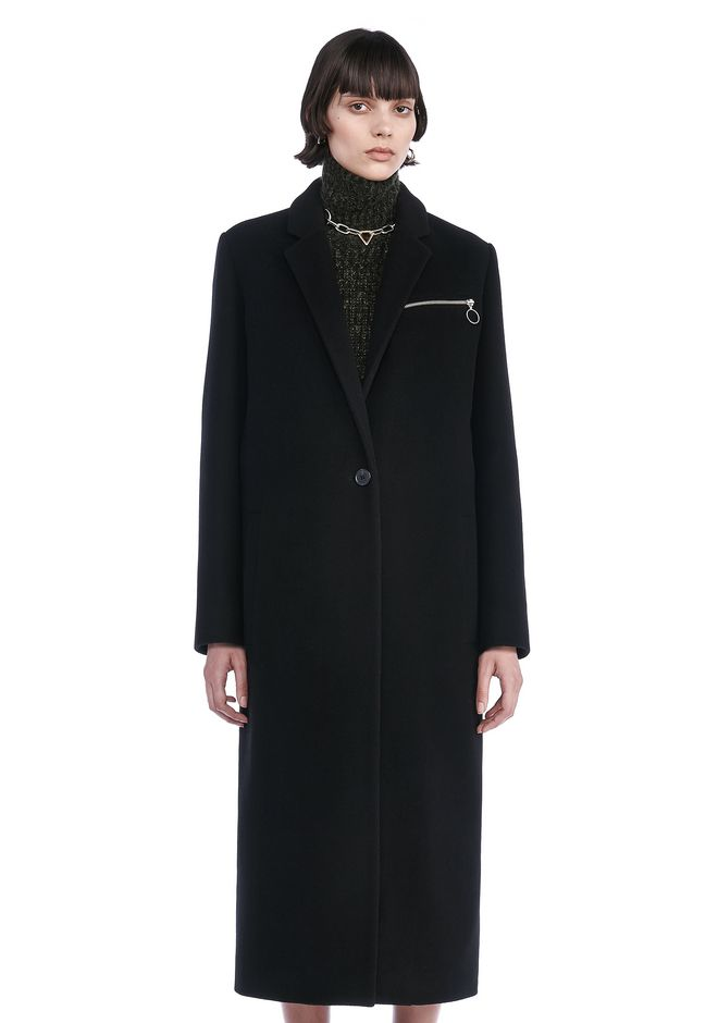 T by ALEXANDER WANG new-arrivals COLLARED LONG CAR COAT
