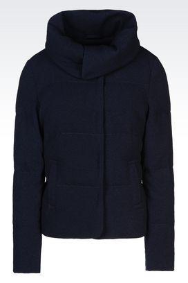 Armani Dust jackets Women down jacket in crêpe