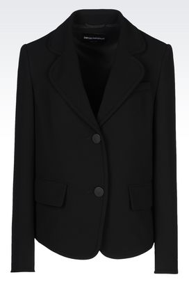 Armani Jackets Women runway jacket in technical fabric