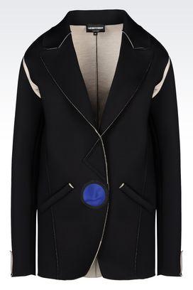 Armani Jackets Women runway jacket in neoprene