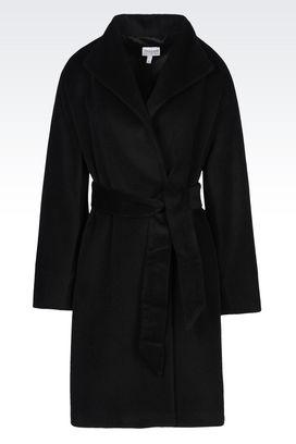 Armani Cappotti Doppiopetto Donna cappotto in misto lana