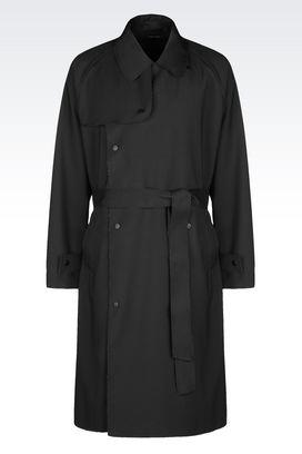 Armani Manteaux à deux boutons Homme trench en laine peignée
