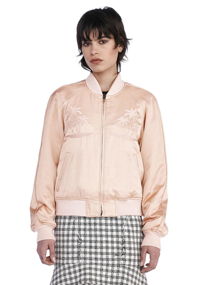 ALEXANDER WANG JACKETS AND OUTERWEAR  Women SOUVENIR JACKET WITH THREADWORK EMBROIDERY