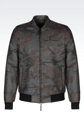 Armani Blouson jacket Uomo blouson in tessuto mimetico