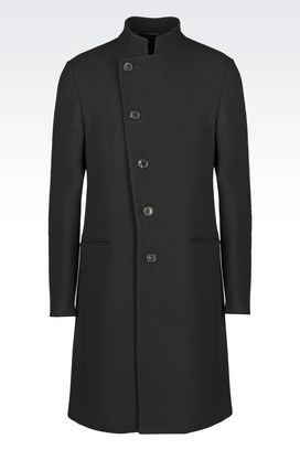 Armani Single-breasted coats Men wool coat