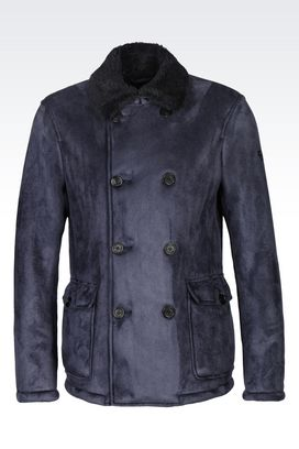 Armani Double-breasted coats Men double-breasted blouson