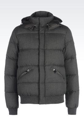 Armani Down coats Men down jacket in twill