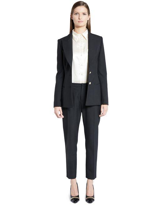 lanvin hemp canvas tailored jacket women
