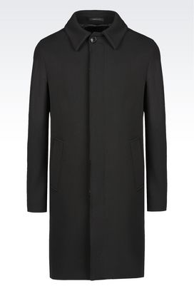 Armani Single-breasted coats Men coat in wool and cashmere