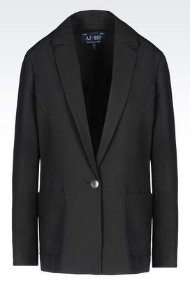 Armani Vestes à un bouton Femme veste en crêpe