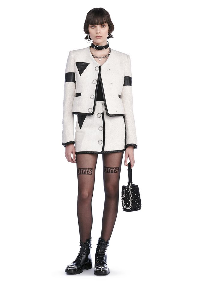 ALEXANDER WANG JACKETS AND OUTERWEAR  CROPPED JACKET WITH TRIANGLE CHEST POCKET
