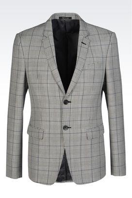 Armani Giacche a due bottoni Uomo giacca david monopetto in fresco di lana
