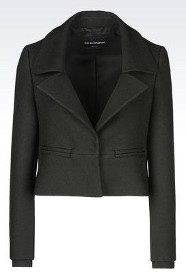 Armani Jackets Women runway jacket in crêpe
