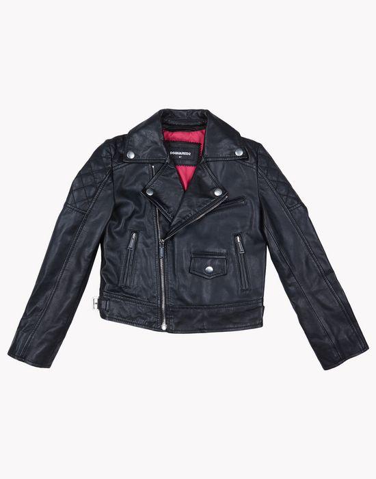 biker jacket coats & jackets Woman Dsquared2