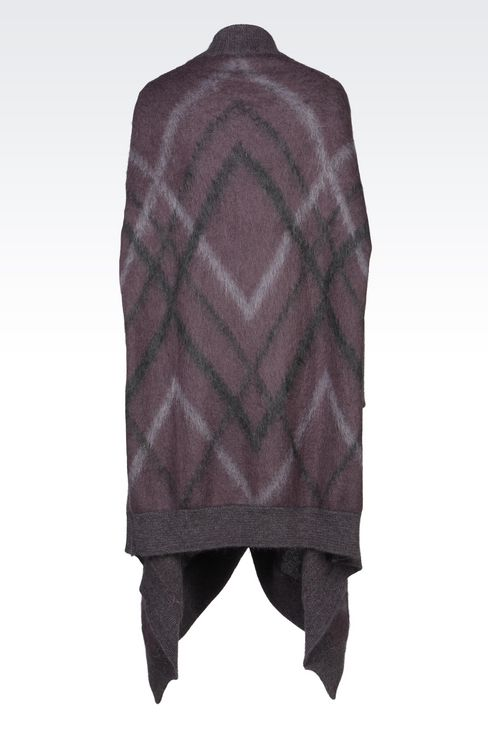 CLOAK IN MOHAIR WOOL: Ponchos Men by Armani - 3