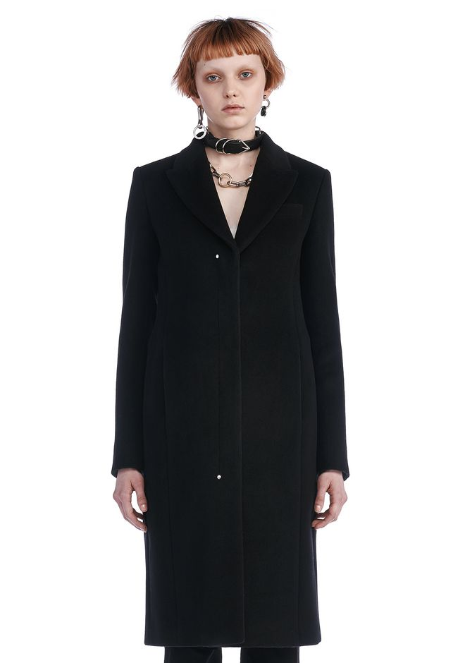 ALEXANDER WANG JACKETS AND OUTERWEAR  Women TAILORED COAT WITH RIVET DETAIL