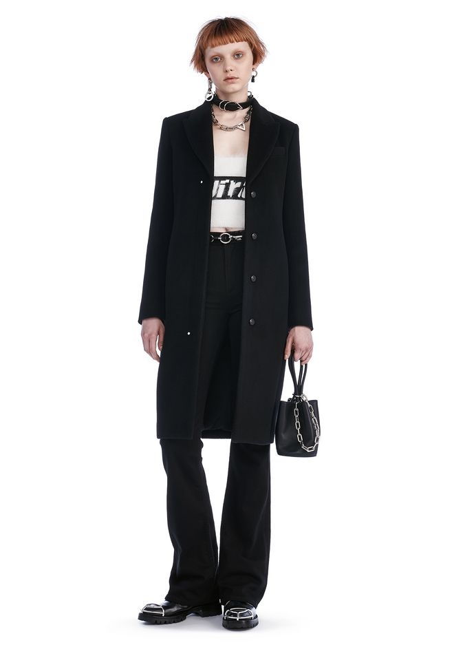 ALEXANDER WANG JACKETS AND OUTERWEAR  TAILORED COAT WITH RIVET DETAIL