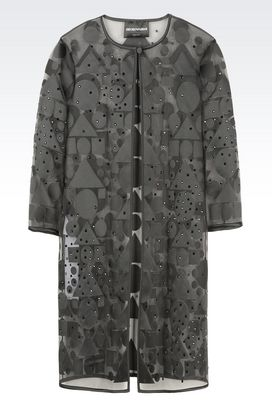 Armani Dust coats Women runway coat in organza