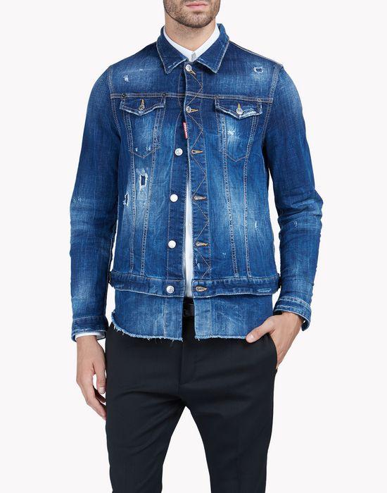 double bottom jean jacket coats & jackets Man Dsquared2