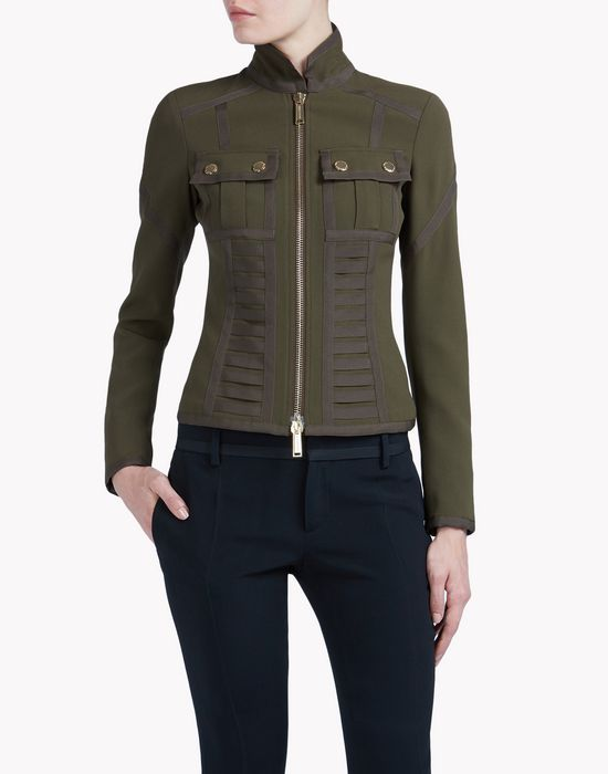 military gros jacket coats & jackets Woman Dsquared2