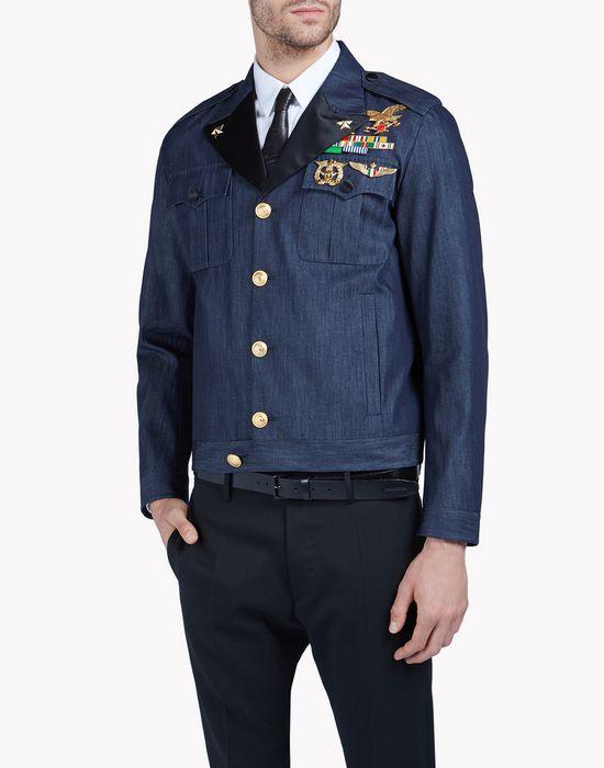 military denim bomber  coats & jackets Man Dsquared2