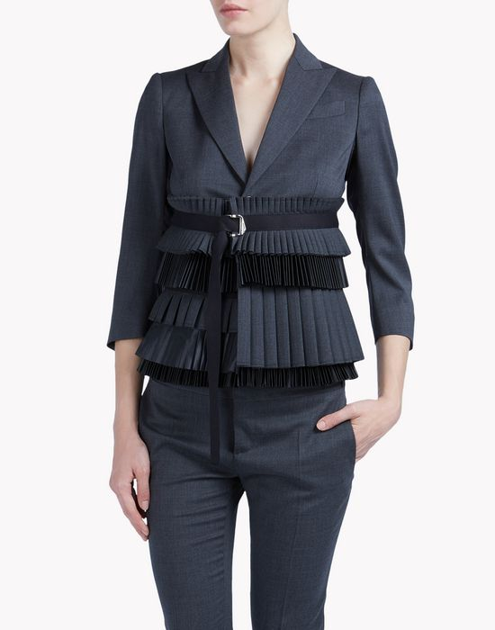 pleated jacket coats & jackets Woman Dsquared2