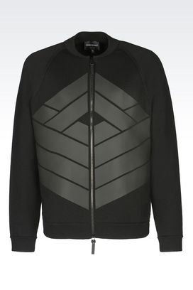 Armani Blouson jacket Men runway knit bomber