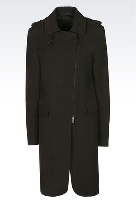 Armani Coats Women coat in cavalry fabric