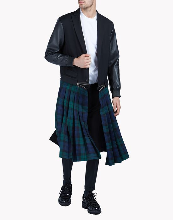 pleated punk scottish coat coats & jackets Man Dsquared2