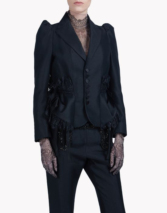 victoria hips embroidered blazer coats & jackets Woman Dsquared2