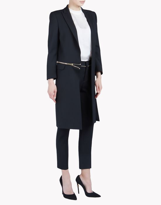 miyako zipped cigarette coat coats & jackets Woman Dsquared2