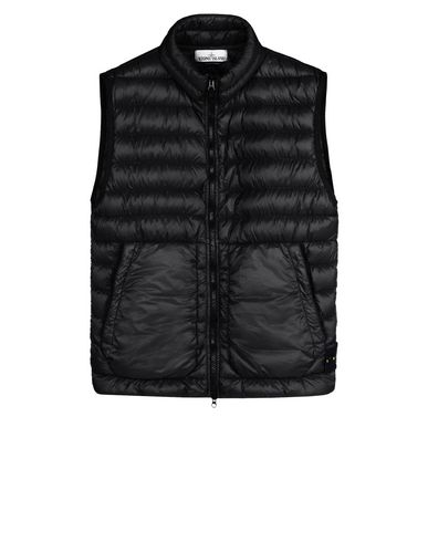 STONE ISLAND Waistcoat G0724 GARMENT DYED MICRO YARN DOWN_PACKABLE